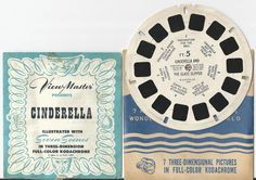 Cinderella and The Glass Slipper View-Master Reel and Booklet by COLLECTORSCENTER on Etsy