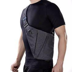 Tienda Online NewBring Compacto Solos Bolsos de Hombro para Los Hombres de Nylon Resistente Al Agua bolsas Crossbody Bolsa de Mensajero Masculino | AliExpress móvil