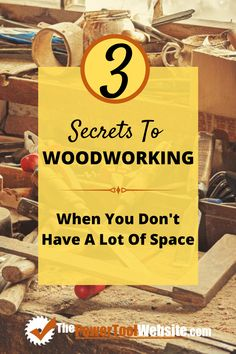 Small shop woodworking - is it your garage, your shed, your basement, your spare room? 3 secrets that will help you get more from your small space and become a better woodworker. Woodworking For Kids, Woodworking Toys, Easy Woodworking Projects, Sauder Woodworking, Green Woodworking, Woodworking Magazine, Woodworking Classes, Diy Your Furniture, Tool Website