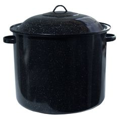 Cinsa Black Enameled Steel Stock Pot with Lid 34 Quart  Factory Second ** Read more  at the image link. We are a participant in the Amazon Services LLC Associates Program, an affiliate advertising program designed to provide a means for us to earn fees by linking to Amazon.com and affiliated sites.