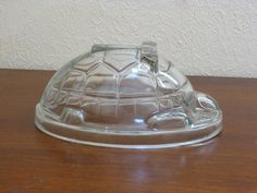 Vintage Glass Turtle Jelly Mould by Canning by AldansVintageCorner Jelly Moulds, Berry Lipstick, Childrens Party, Butter Dish, Cupboard, Turtle, Berries, Conditioner, Pudding