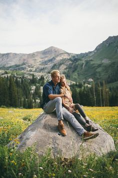 Julie + JP engagement shoot- Utah mountains