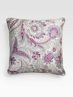 Etro Paisley Satin Pillow from Saks
