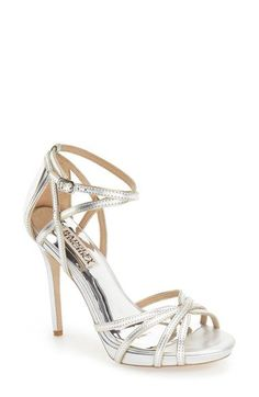 BADGLEY MISCHKA 'Leon Ii' Metallic Ankle Strap Sandal (Women). #badgleymischka #shoes #sandals