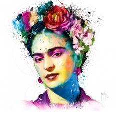 Frida Kahlo Canvas Artwork by Patrice Murciano Frida Kahlo Artwork, Frida Kahlo Exhibit, Frida Kahlo Portraits, Frida Art, Canvas Artwork, Canvas Art Prints, Framed Prints, Lino Prints, Block Prints
