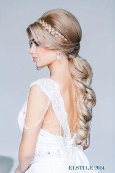 peinado semirecogido para novia
