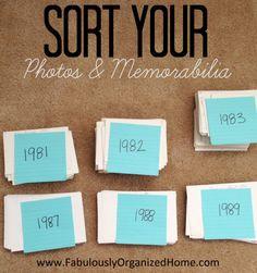 How to Sort Photos & Memorabilia