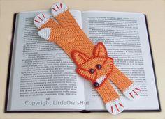 011 Fox Bookmark - Amigurumi Crochet Pattern -  PDF file by Zabelina Etsy