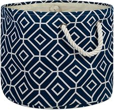 Amazon.com: DII Collapsible Polyester Storage Basket Or Bin with Durable Cotton Handles, Home Organizer Solution for Office, Bedroom Closet, Toys, and Laundry, Large Round-15x16, Stained Glass Aqua: Home & Kitchen Laundry Room Remodel, Closet Bedroom, Storage Baskets, Home Organization, Stained Glass, Cotton, Stuff To Buy, Toys, Aqua