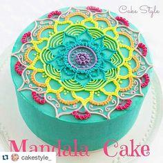 how to make a tie dye cake inside