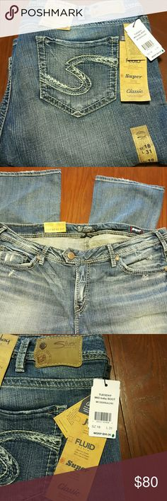 Silver Jeans Baby Boot Cut NWT 18 x 31 Super series, very light, soft and stretchy Silver Jeans Jeans Boot Cut
