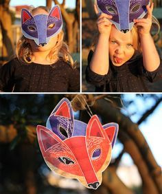 Fantastic Fox Mask - Free Printable at www.littlegatherer.com