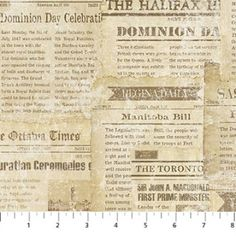 Canadian Sesquicentennial Newspaper Print  Northcott Stonehenge