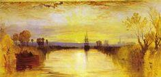 Chichester Canal, öl von William Turner (1789-1862, England)
