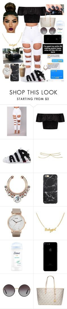 """Untitled #102"" by marleymal ❤ liked on Polyvore featuring Amina, Miss Selfridge, NIKE, ASOS, Porsche, CLUSE, Dolce&Gabbana and Michael Kors"