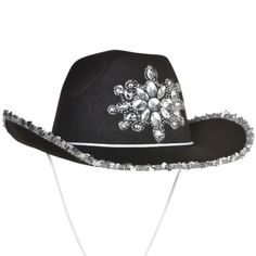 The Gemstone Nashville Cowgirl Hat features a bling jewel design and a silver sequin trim. Saddle up for a good time with this black fabric cowgirl hat! Black Cowgirl, Cowgirl Hats, Cowgirl Outfits, Cowgirl Halloween Costume, Halloween Outfits, Halloween 2020, Toddler Costumes, Adult Costumes, Kids Party Supplies