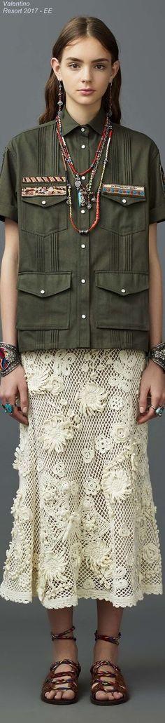 Crochetemoda: Saia de Crochet - Valentino