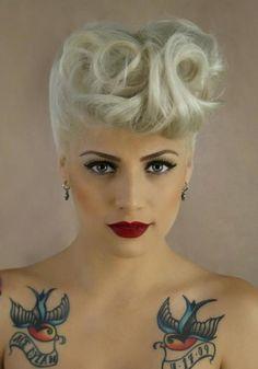 tattooed girl pinup pinup girl vintage
