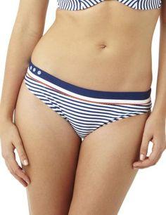 CW0069 Cleo Lucille Classic Bikini Pant Navy Stripe - CW0069 Bikini Brief