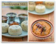 Tamata pachadi, Tomato onion Chutney, Blogging Marathon, Tamil Cuisine, Chettinad Cuisine, Idly, Kancheevaram Idli