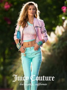 EDITA VILKEVICUTE POSES POOLSIDE FOR JUICY COUTURE SPRING 2015 ADS