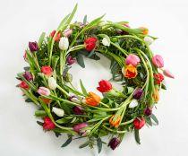Krans af tulipaner, dekorativ stil