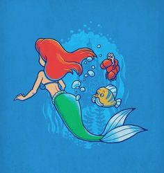 Creative pop icon designs by Ben Chen. Mermaid Under The Sea, Ariel The Little Mermaid, Ariel Mermaid, Chen, Humor Grafico, Arte Pop, Funny Cartoons, Cartoon Humor, Funny Humor