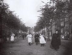 Foto van Breitner, Elandsgracht Amsterdam rond 1895.