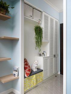 Foyer, Entryway, Living Room Designs, Entrance, Bookcase, Shelves, Cabinet, Interior Design, House