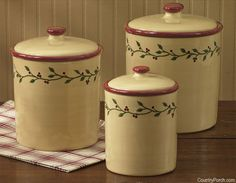 Thistleberry Canisters Set