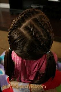 cute website for little girl hairstyles .... need to remember this for the next time my cousin wants me to do her hair