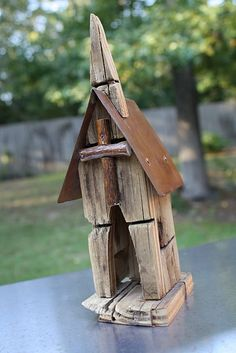 what a lovely church made from driftwood. #driftwood