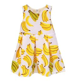 Kidscool Little Girls Sleeveless Allover Banana Print Princess Dress. Note:Recommended to buy from Kiscool,Better quality guarranteed and free gift. Delivered immediately. Because your girl grow fast,choose a bigger size will be better. Allover bananas printed. Cotton lining soft to wear skirt.