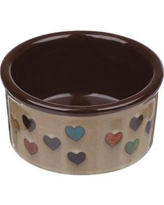 Harmony Heart Print Brown Ceramic Dog Bowl 6 Cup Large Multi-color for sale online Elevated Dog Bowls, Raised Dog Bowls, Ceramic Dog Bowl, Wild Bird Food, Raw Food Diet, Dog Diapers, Dog Feeding, Heart Print, Pet Gifts