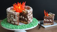 Fire Pit S'mores Cake and Summer Vacation Plans