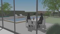 Tuinen in ontwerp - tuinarchitect creatief in groen   Moderne tuin gebaseerd op de moderne architectuur van de woning   Brugge
