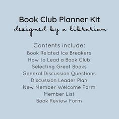 The Ultimate Book Club Planner designed to make your book club lively & connected. Created by a librarian who gets how book clubs work. Share the pages with club members and discussion leaders, so their planning is easy! Book Club List, Book Club Recommendations, Book Club Reads, Book Club Books, Book Clubs, Book Club Questions, New Homeowner Gift, Etsy Business, Historical Fiction