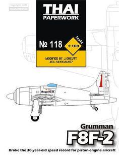 Grumman F8F-2 Bearcat Conqest I Free Aircraft Paper Model Download…
