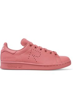 ADIDAS ORIGINALS + Raf Simons Stan Smith perforated leather sneakers  $400.00 https://www.net-a-porter.com/product/649255