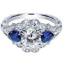 Platinum Victorian Halo Engagement Ring    Style ER8771PT3SA