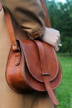 Handbag Buy and order Leather pumpkin handbag on Livemaster online shop. Shipped over Russia and the CIS. Fashion Handbags, Purses And Handbags, Fashion Bags, Style Fashion, Leather Purses, Leather Handbags, Crea Cuir, Leather Bag Pattern, Handbags Online Shopping