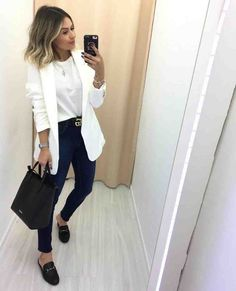 Casual look _ lässiger look _ look décontracté _ vis Mode Outfits, Stylish Outfits, Fall Outfits, Fashion Outfits, Blazer Fashion, Womens Fashion, Work Casual, Casual Chic, Casual Looks