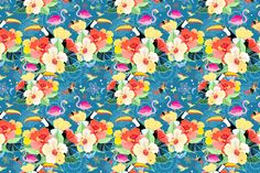 Flowers and floral patterns  by Tanor on @creativemarket