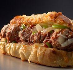 Italian meatball sandwich at Great Chicago Italian Recipes.