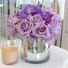 Purple Roses and Orchids