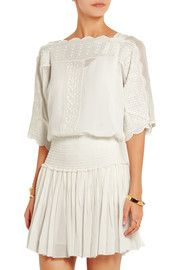 cf931332d1d Étoile Isabel Marant Axel embroidered georgette top Isabel Marant, Boho  Fashion, Fashion Outfits,