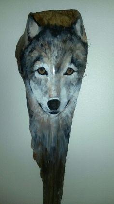 My newest wolf. Etsy paintedpalmsbypenn