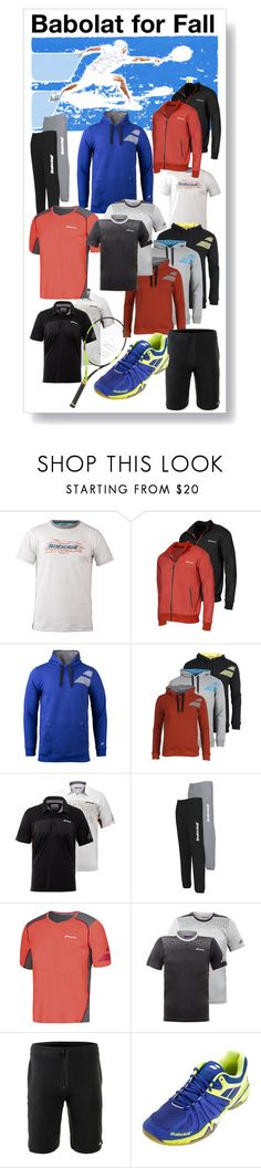 """""""Men's Babolat Tennis Gear For Fall"""" by tennisexpress ❤ liked on Polyvore featuring men's fashion and menswear"""