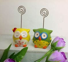 Kinsheng - put a greeting card on the top of owl, leave a massage to some important person