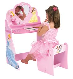 Disney Princess Dressing Table and Chair Beautiful dressing table and writing desk with matching chair.  sc 1 st  Pinterest & Disney Princess - Table and Chairs Set | Goodies for the Kids ... islam-shia.org